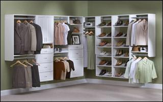 Melamine Shelving. Cherry Closet Cherry Melamine. White Closet